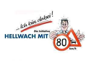 Hellwach mit 80 km/h